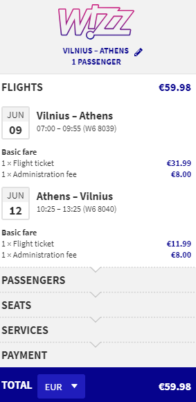 Vilna-Atenas