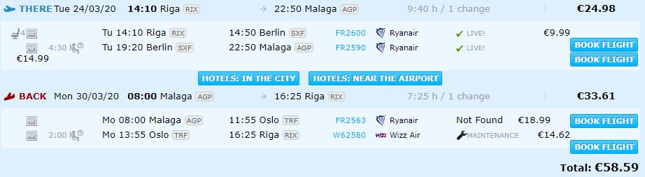 Riga-malaga